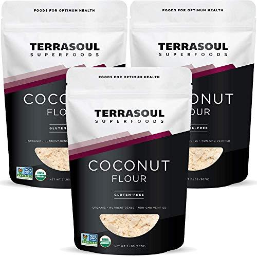 Terrasoul Superfoods Organic Coconut Flour, 6 Lbs (3 Pack) - Gluten-Free | Unrefined | Fine Texture | Premium Quality