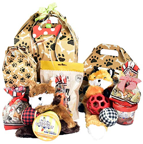 Pawsitively Perfect! - Gift Basket for Dogs with Treats, Toys and Special Snacks for Your Favorite FurBaby