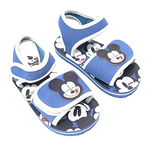 Mickey Mouse Sandalen für Kinder – Disney Mickey Mouse Sandalen für Strand oder Pool, Blau - blau - Größe: 28 EU