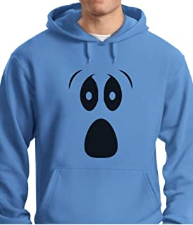 Tstars - Halloween Ghost Costume Funny Ghoul Face Hoodie