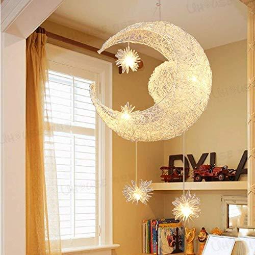 Wandlicht Lampe Wand-Licht / Beleuchtung Die Beleuchtung Mond-Stern Pendelleuchte Empfohlen mit 5 Leuchten, Mini Globe Pendelleuchten Heim-Deckenleuchte for Esszimmer, Wohnzimmer, eine Küche Interio,