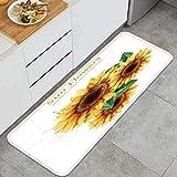 FQWEDY Tapis de Cuisine Antidérapant Chiot Akita inu avec des vêtements Ouneed de Salle de Bain Devant Evier Tapis Déco-120cm x 45cm