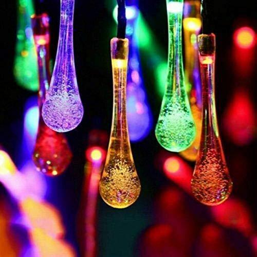 Solar String Lights, Teardrop String Lights Waterproof Water Drop Mode LED Solar Fairy Lights
