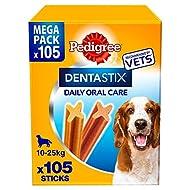 Pedigree DentaStix Daily Dental Chews Medium Dog 10-25kg 105 Sticks