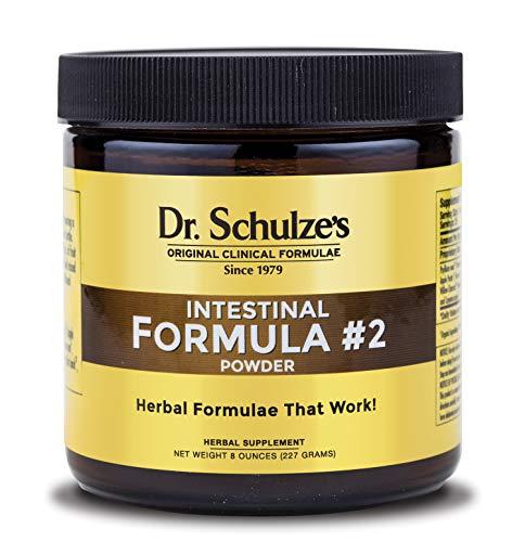 Dr. Schulze's | Intestinal Formula #2 | Herbal Colon Cleanse Formula | Natural Detox Powder| Dietary Supplement | Remove Excess Waste, Poisons & Build-Up | Gastroenteric Vacuum | 8 Oz. Jar