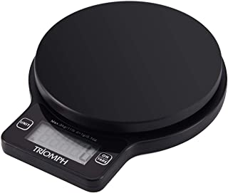 Triomph Digital Kitchen Scale, High Accuracy Multifunction Food Scale, Cooking Scale with 0.1oz/ 1 g Increment, 11 lb/5 kg...
