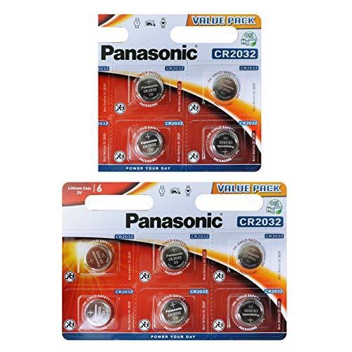 Panasonic CR2032 Knopfbatterie (10-er Pack, 3 V) Silber