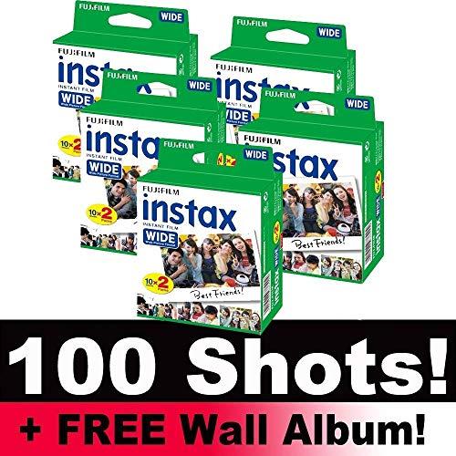 fotoSENSE Fujifilm Instax Wide Film Bundle Pack (100Disparos) + Incluye Álbum de Pared