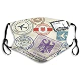 Cool Mouth Shield For Gardening Climbing Daily Use Travel Stamps Set Germany and Berlin Journey Adjustable Covers