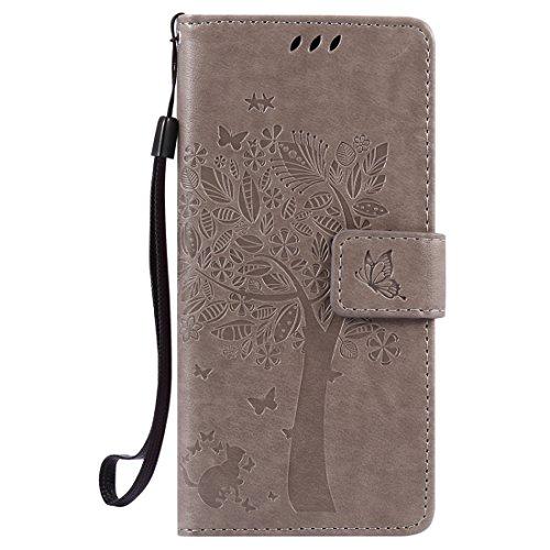 Nancen Compatible with Handyhülle Sony Xperia Xa (5,0 Zoll) Flip Schutzhülle Zubehör Lederhülle mit Silikon Back Cover PU Leder Handytasche Etui Schale