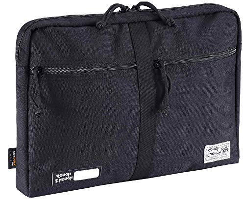 Rough Enough Tactical 13 Inch Laptop Sleeve Computer Bag Document Case EDC Zipper Pouch Laptop Portable Travel Bag Briefcase for Men Teens