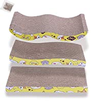 3 Pack Design - 3 Pack of different shapes Cat Scratching Boards will satisfy your feline friends different needs. Made of Recycled Cardboard - OHANA Cat Scratching Pads is applied with premium corrugated cardboard, durable, recyclable and its safe t...
