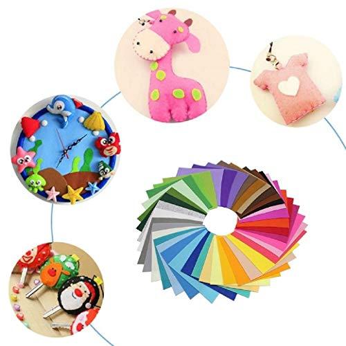 filzstoff,Bastelfilz 40 Farben DIY Handwerk Nähen Filz Stoff Kinder Patchworkstoff 15 x 15 cm