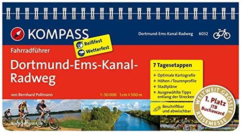 KOMPASS Fahrradführer Dortmund-Ems-Kanal-Radweg: Fahrradführer mit Routenkarten im optimalen Maßstab.