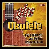 GHS Strings H-T10 Tenor Ukulele Strings, Black Nylon/Aluminum