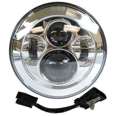 """7"""" Inch Black Harley Daymaker LED Headlight+ 2 x 4 1/2"""" Fog Light Passing Lamps With Adapter Ring for Harley Motorcycle"""
