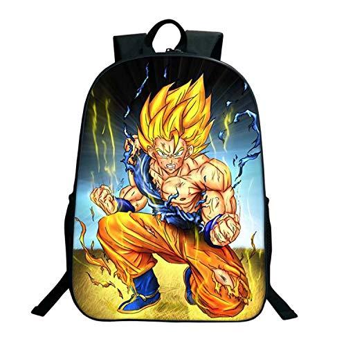 Dragon Ball - Mochila para estudiantes de gran capacidad, diseño de dibujos animados anime