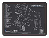 EDOG Shield Gun Cleaning Mat - Schematic (Exploded View) Diagram Compatible with Smith & Wesson M&P Shield Series Pistol 3 mm Padded Pad Protect Firearm Magazines Bench Surfaces Gun Oil Resistant