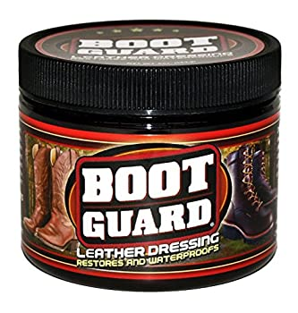 Boot Guard Leather Dressing  Restores and Conditions Leather Boots Shoes Automotive Interiors Jackets Saddles and Purses 5 Ounce Jar