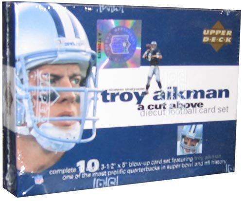 Juego de cartas de fútbol de la cubierta superior 'A Cut Above' de 1997 (Troy Aikman) -10C por Upper Deck
