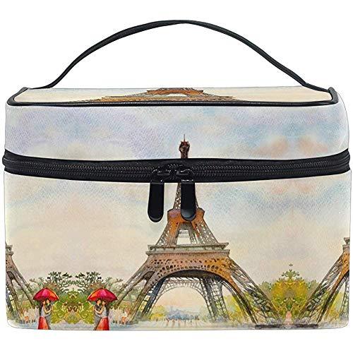 Tour Eiffel Maquillage Sac Paris Européen France Parapluie Sac Cosmétique Trousse De Toilette Brosse Sac Organisateur De Stockage