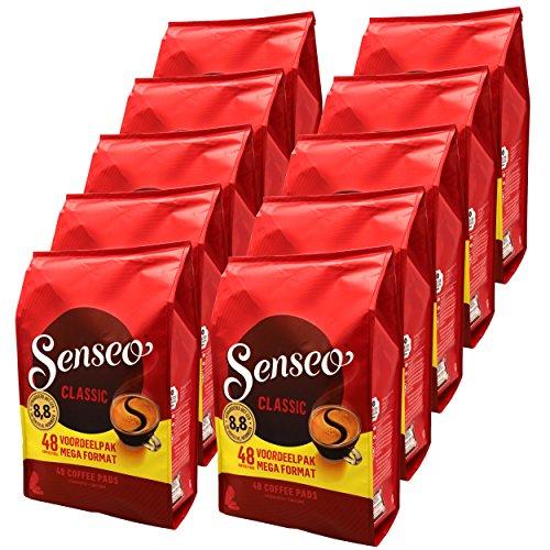 Senseo Pads Classic, 480 Kaffeepads (nur für kurze Zeit) Megapack XXL, 10er Pack (10 x 48 Getränke)