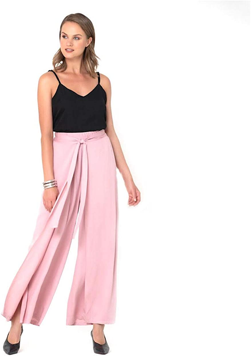 SPIRITO Women's Palazzo Pants - High Waist - Solid Color, Loose Casual Pants