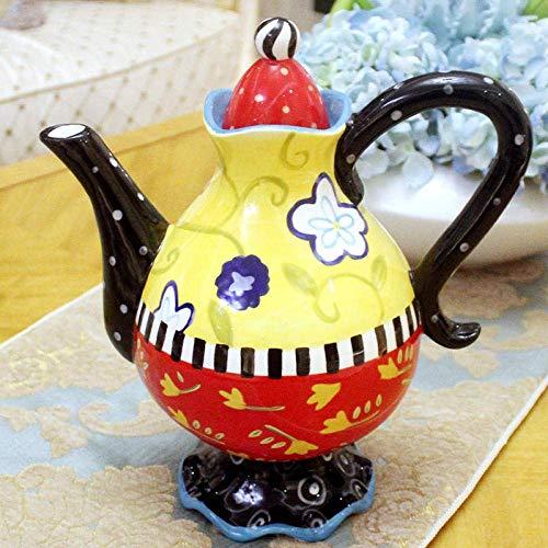 WMYATING Hervidor, Juego de té de cerámica, hervidor de Ace Tetera con Tetera de colador, hervidor, Tetera de cerámica de Alta Temperatura, hervidor de frío de Gran Capacidad (Color : 1871600ml)