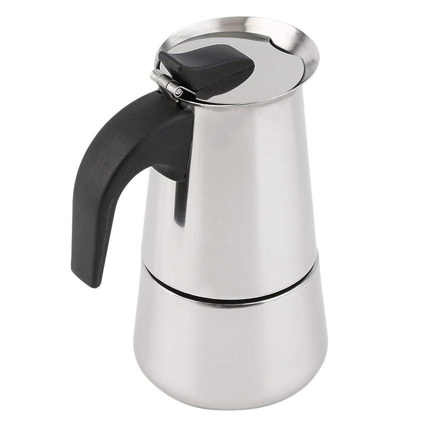スペル敬意を表してためらうSaikogoods 2/4/6カップパーコレーターストーブトップのコーヒーメーカーモカエスプレッソラテステンレスポットホット販売 銀 6カップ
