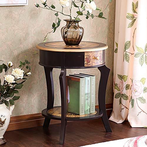 Haizh Bureautafel, ronde zijde, hoekkast, meerdere geverfde oude theetafel, salontafel, klaptafel