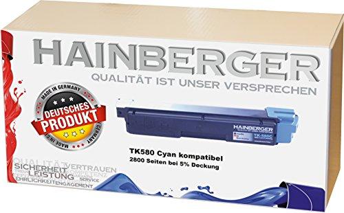 Hainberger Toner ersetzt Kyocera TK580C für FS-C 5150 DN / ECOSYS P 6021 CDN, Cyan