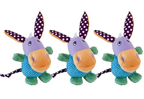 CopcoPet - Hundespielzeug: Esel Jakob - 3er Set