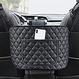 Haoshan Bolsa de almacenamiento de asiento de automóvil, bolsa de almacenamiento trasera del asiento interior, bolso de cuero PU, adecuado para la mayoría de los accesorios de automóviles, embalaje y
