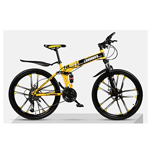 KXDLR Mountainbike 21 Speed Vouwfiets 26 Inch 10-Spoke Wielen Suspension Fiets