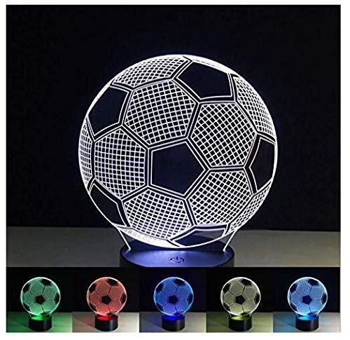 3D Illusion Lamp LED Night Light Football Table Bedside Lamp 7 Color Change Touch Children Toys Home Decor Christmas Valentines Gift