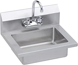 Elkay EHS-18X Hand Sink, 18X15 OA, 14X10X5 Bowl, Faucet, 18 GA 300 Series SS, NSF