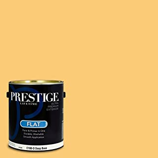 Prestige Paints E100-D-SW6675 Exterior Paint and Primer in One, 1-Gallon, Flat, Comparable Match of Sherwin Williams Afternoon, 1 Gallon,