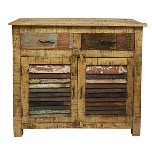 Oriental Galerie Schrank Wandschrank Holzschrank Sideboard Kommode Indien Holz ca 90 cm lang