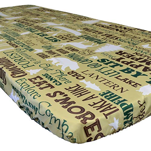 In the Breeze 8004 Rustic Camping 30 Inch x 72 Inch Fitted Tablecloth, 30in x 72in (6ft)