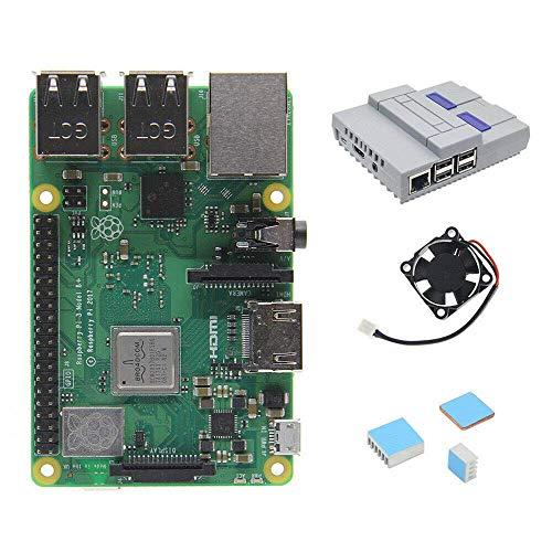 FYYONG 4 in 1 Raspberry Pi 3 Modell B + (Plus) Platte + Nes-Art-Fall/Gehäuse + Lüfter + Heatsinks
