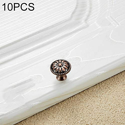 Hardware Deur 10 PCS 6041 Small Single Hole Red Oude Verf Closet Cabinet Handle Diameter: 24mm Handgrepen