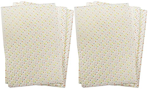 """Bradshaw Set of 100 Sheets of Decorative Parchment Paper! Food Safe Gift Wrap - 12""""x10.75"""" - Safe up to 450F - Colorful Polka Dot Design - Adorable Parchment Paper Creative Baking Needs! (100)"""