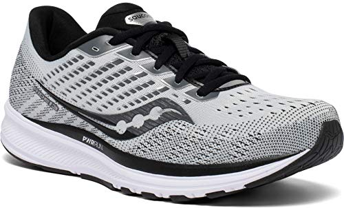 Saucony Men's Ride 13, Grey/Black, 10.5 Medium