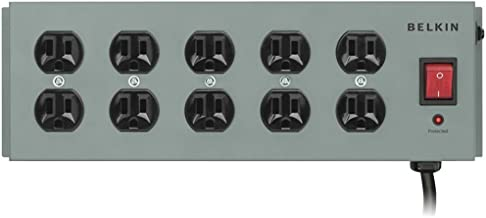 BELKIN F9D1000-15 10-Outlet Metal SurgeMaster(R) Surge Protector Electronics Computer Networking