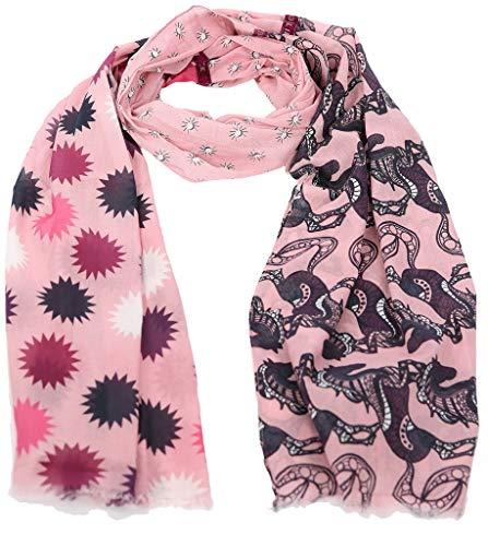 Lieblingsstück Tuch MADELAINEL 3-geteilter Druck Zierstreifen rosa
