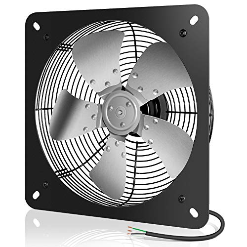 iPower 12 Inch Exhaust Fan Aluminum, High Speed 1300RPM, 1-Pack, Silver