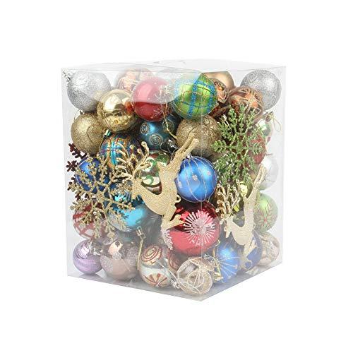 N/H Christmas Balls 60pcs Christmas Tree Decorations Balls Hanging Ornament Xmas Christmas Tree Theme Pendant Decoration (Random Box)