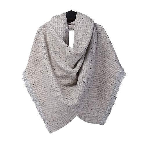 KINMB sjaal sjaals wraps sjaal herfst en winter sjaal mode effen kleur punt breien warme sjaal