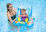 Medigo Baby Float with Sunshade Canopy Swimming Pool Inflatable Toys for Babies & Toddler Kiddie...
