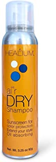 Healium Hair Dry Shampoo, 3.25 oz - Sunscreen Oil Absorbing Extend Your Style Without Washing –Products for Men, Women, Curly, Frizzy, Fine, Thin Textures